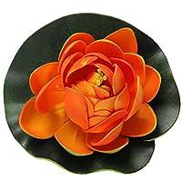 RETYLY フォームロータス フローティングウォータープラント 水槽 タンク ガーデンの装飾 オレンジ色の芽