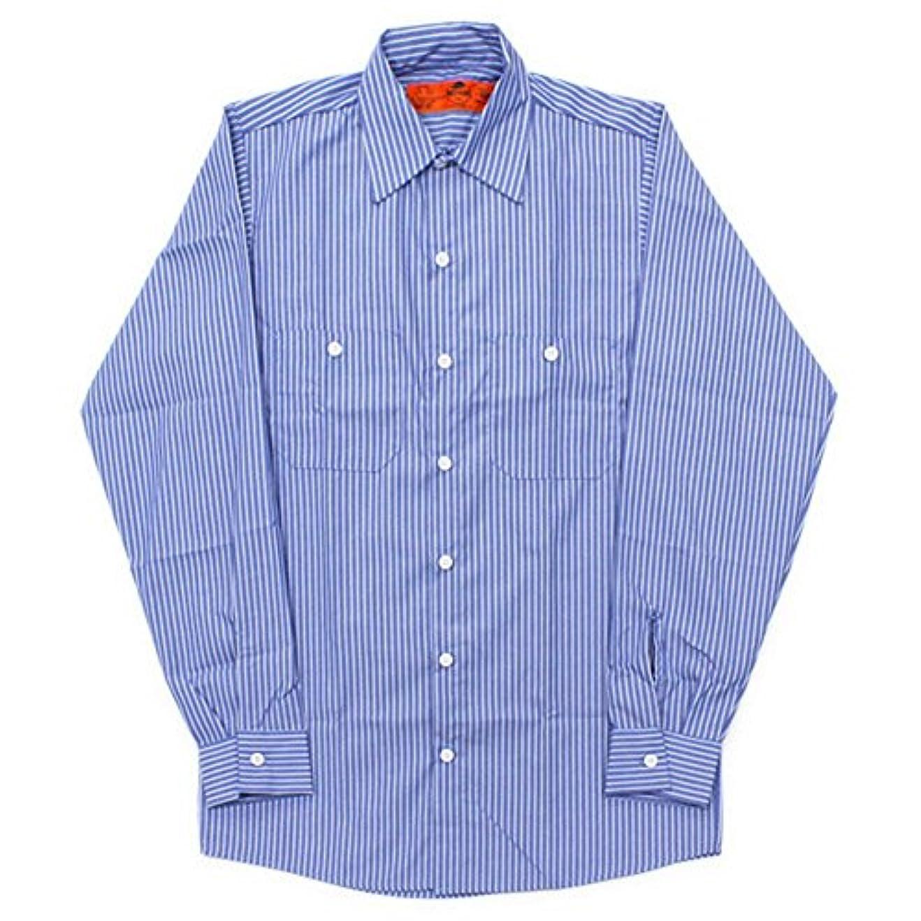 アパル解放する解放するRED KAP(レッドキャップ)/LONG SLEEVE STRIPE WORK SHIRTS(長袖ストライプワークシャツ) XL Blue/White