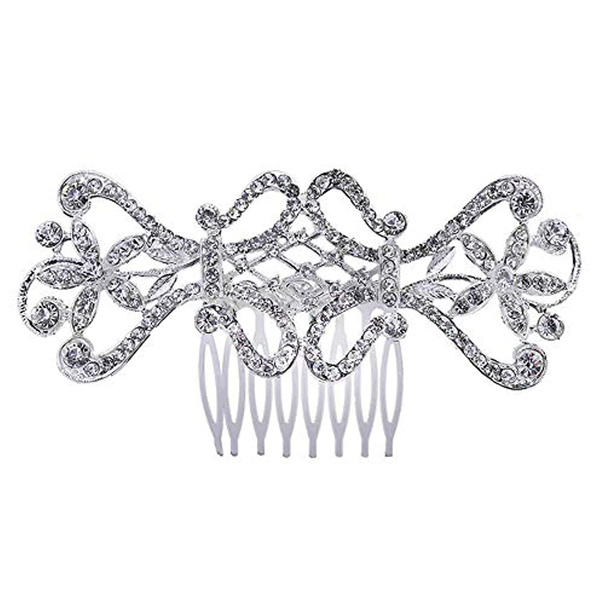 バレエトランジスタ真鍮ヘアコームコームコームブライダルヘアコームラインストーンインサーヘッドドレスブライダルヘアアクセサリー結婚式のアクセサリー