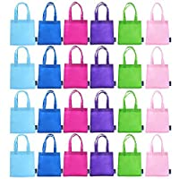 BCP 9 Assorted Colors 24pcs Small Non-woven Reusable Kids Carrying/ Shopping/grocery Tote Bag for Wedding Favor/gift /Party by BCP