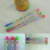 かわいいキッズモンスター消しゴムトップHB鉛筆(3鉛筆)