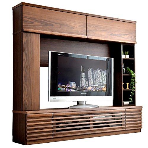 タンスのゲン ハイタイプ テレビボード 壁面収納 ブラウン 7102004600