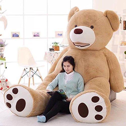 LOVESOUND ぬいぐるみ 特大 テディベア クマ抱き枕 ふわふわぬいぐるみ (200cm, ブ...