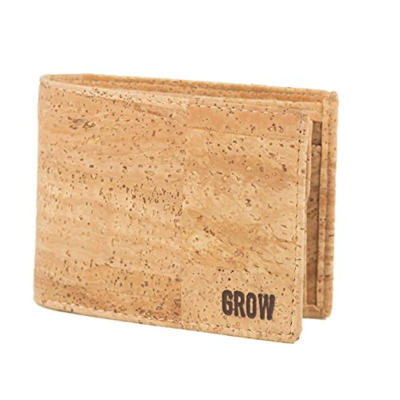 しっかり湿原ましいGrowのQuercus Rubraコルク財布for Man