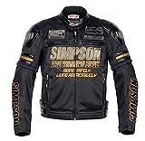 シンプソン(SIMPSON) バイクジャケット メッシュジャケット ゴールド L SJ-7116SP