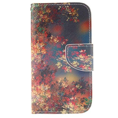 Galaxy S4 ケース CUSKING 手帳ケース PUレザー フリップ カードポケット付き Samsung Galaxy ギャラクシ S4 用 軽量 滑り防止 耐衝撃 衝撃防止 保護ケース - ブルー