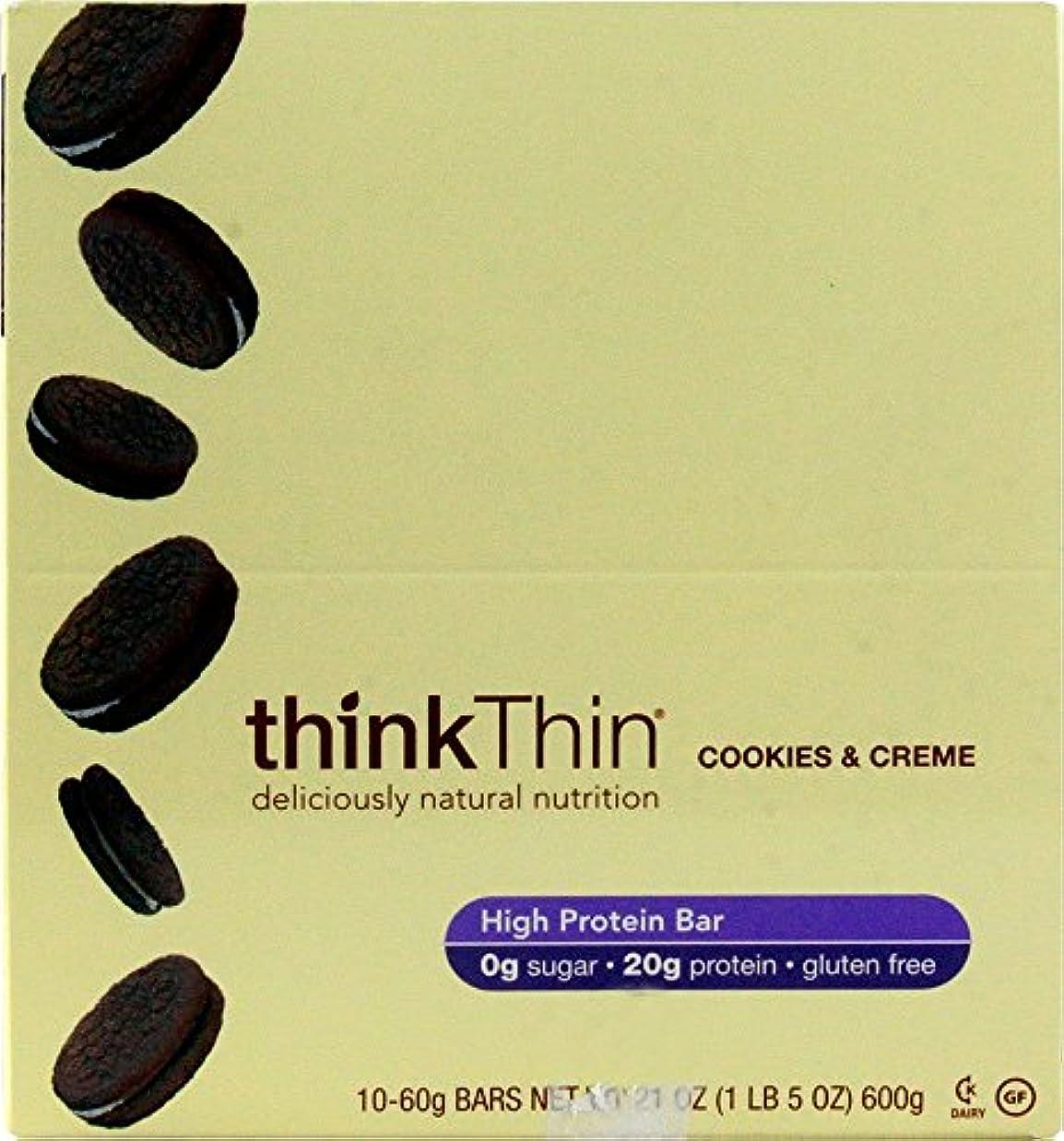 影響力のある修士号浸したTHINK THIN社 シンクシンバー クッキー&クリーム 10本