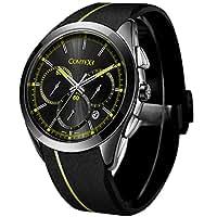 Comtex 腕時計 メンズ ブラック シリコン アナログ アウトドア スポーツウォッチ クオーツ 時計 クロノグラフ