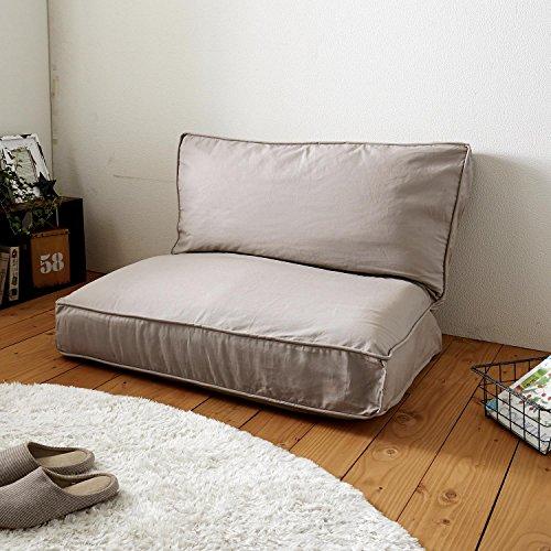 布団収納袋 ソファーに変身 ベージュ 5枚目のサムネイル