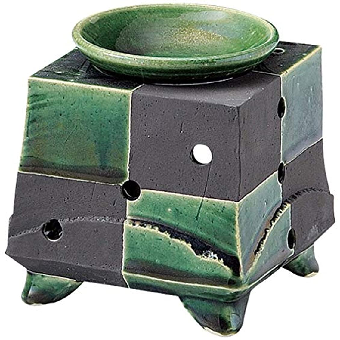 凍った段落彼ら常滑焼 G1720 茶香炉  径11.5×11.5cm