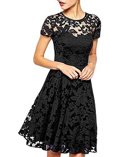 サンルート21 ドレス レース 膝丈 黒 赤 青 結婚式 式典 入学式 エレガント