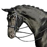 BUSSE(ブッセ) グランプリ 大勒頭絡 セット(手綱付き) ブラック BU-HA-121802 ブラック フルサイズ