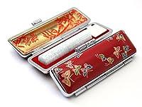 「ミルキィ印鑑ディープグリーン12.0mm×60mm赤ローケツD-7ケース」 縦彫り 古印体