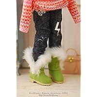Blythe Blythe š bohemian fur boots / lime green fw204 š BHC