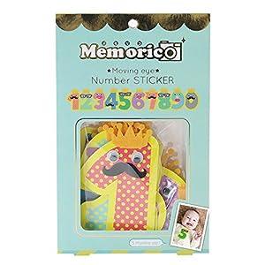 ノルコーポレーション メモリコ memorico ムービングeye★ ナンバーステッカー 10pcsセット