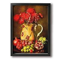Shamp 花 フルーツ 絵 壁掛け 絵画 インテリア ポスター アートポスター フレームレス装飾画 アートフレーム・ポスター 横 額縁付き