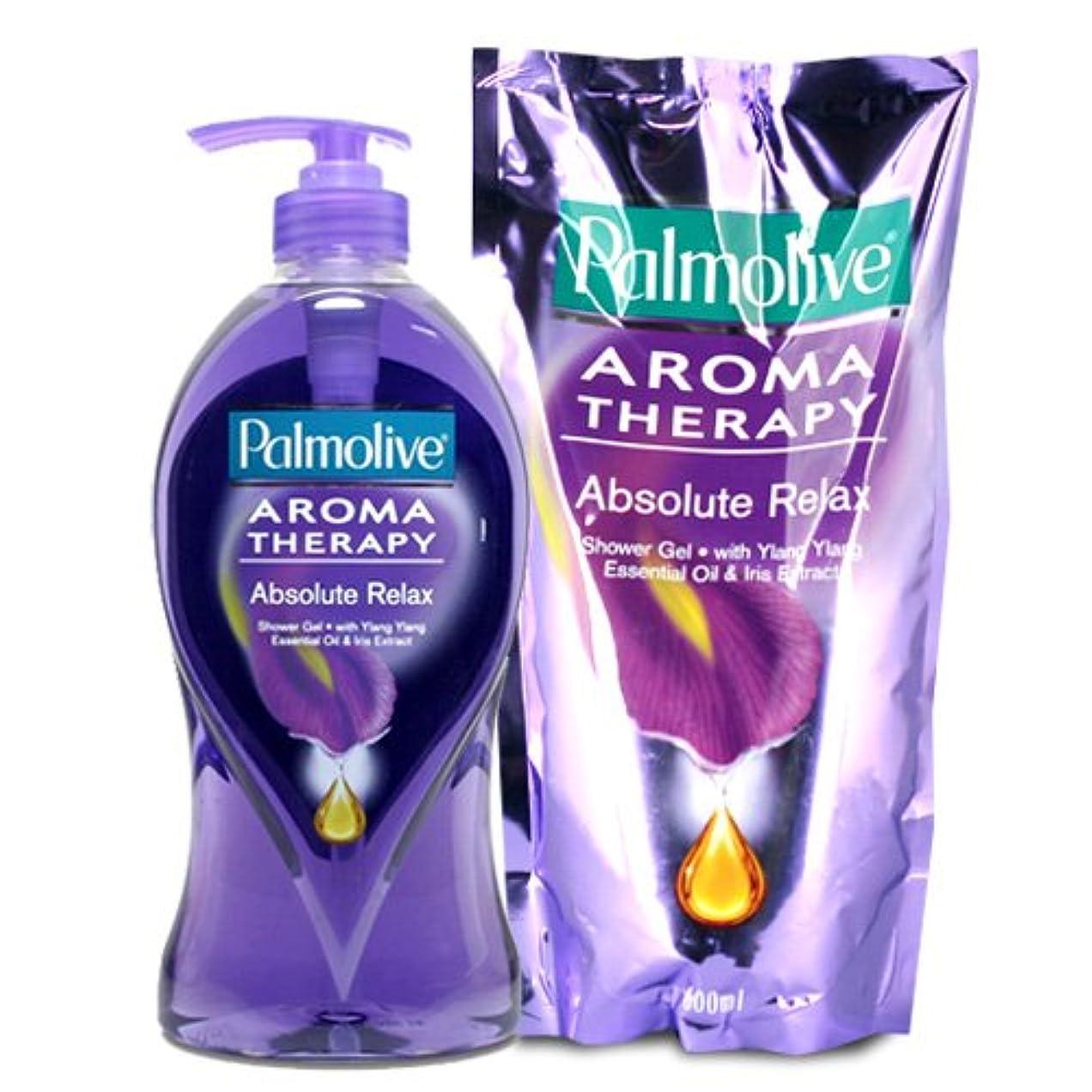 登場療法収容する【Palmolive】パルモリーブ アロマセラピーシャワージェル ボトルと詰め替えのセット (アブソルートリラックス)