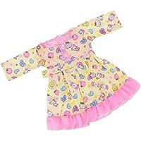 Lovoski  人形 かわいい 袖なし ドレス 寝間着 18インチアメリカドール適用 装飾
