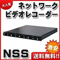 【NSS】ネットワークビデオレコーダー 4ch 19インチラックマウント対応1UNASベース型プロフェッショナルNVR【DNSVT804-1U】