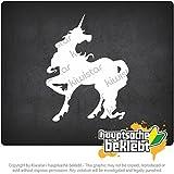 ユニコーン unicorn 4,3inch x 3,1inch 15色 - ネオン+クロム! ステッカービニールオートバイ