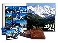 DAチョコレートキャンディアルプスチョコレートギフトセット13x13cm 1箱。 (山々)
