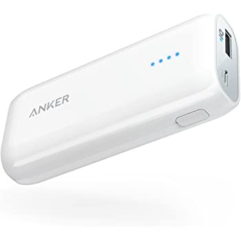 Anker Astro E1 5200mAh 超コンパクト モバイルバッテリー 急速充電可能 iPhone/iPad / iPod/Xperia / Galaxy/Nexus 他対応 トラベルポーチ付属【PowerIQ搭載】(ホワイト)