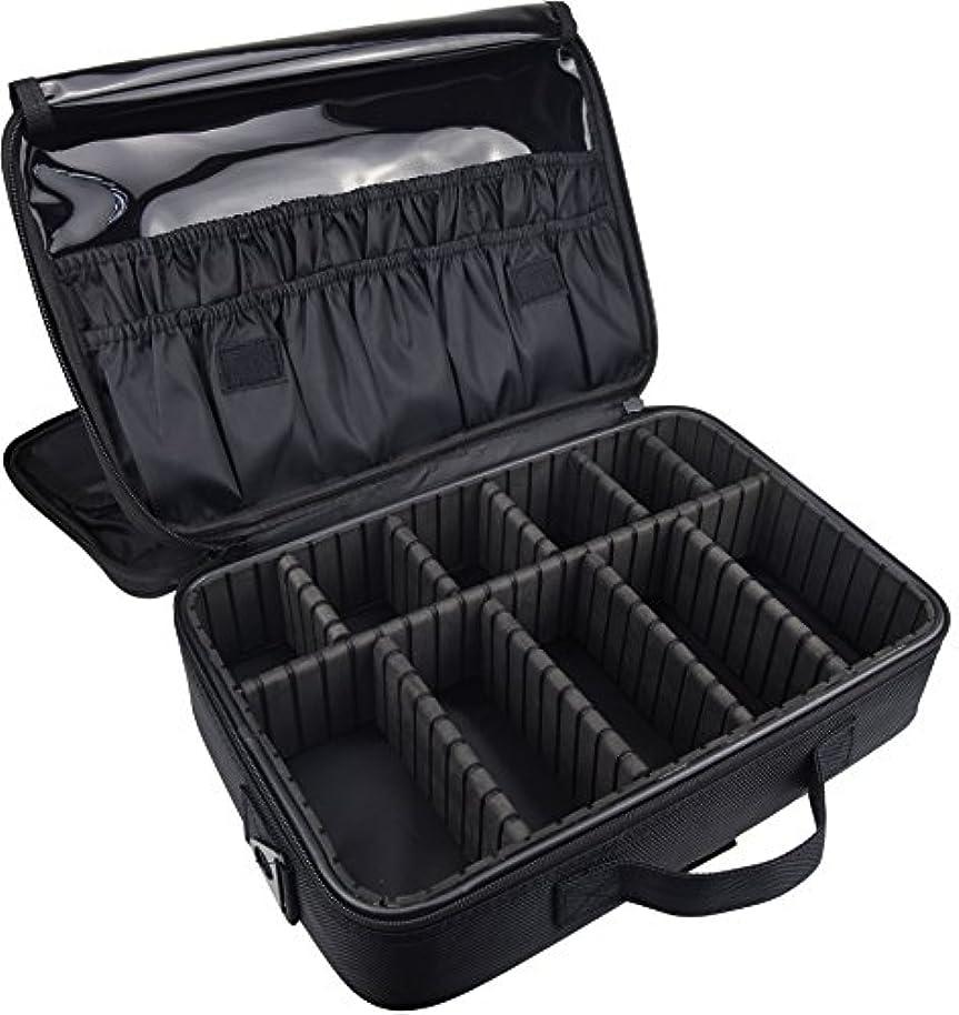冗談で技術山岳ArcEnCiel メイクボックス プロ用 大容量 コスメボックス メイクブラシ 化粧道具 小物収納