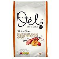 デリ市場チョリソー&ローストオニオンポテトチップスの150グラム (x 6) - Deli Market Chorizo & Roasted Onion Potato Chips 150g (Pack of 6) [並行輸入品]