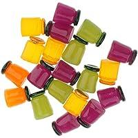 Perfk 20個  1/12 人形 瓶 3D ドールハウス ミニチュア ミニ瓶 サンプル DIYアクセサリー 装飾