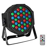 COLOR'SAGE ディスコライト 舞台照明 36個 LED ステージライト 80W RGB DMX512 スポットライト 自走機能 音声起動 ステージ照明 多色変化 ストロボ 誕生日/ディスコ/カラオケ/パーティー/ステージ/KTV/バー 照明用ライト リモコン付き(36LED RGB)