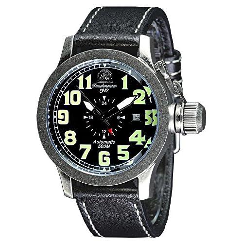 [トーチマイスター1937]Tauchmeister1937 腕時計 ドイツ製 44mm径ケース 500M耐水圧 ダイバーズ 自動巻 24時間表示 T0274 (並行輸入品)