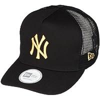 (ニューエラ)NEW ERA 9FORTY D-Frame Trucker ニューヨーク・ヤンキース ブラック × ゴールド キャップ