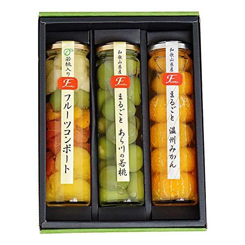 果実の宝石箱 フルーツコンポート まるごと温州みかん、あら川の若桃、フルーツミックス