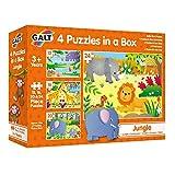 Galt Toys 4 Puzzles in a Box-Jungle, Multicolor