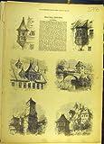 1872 のニュルンベルクは建物ドイツ建築をスケッチします