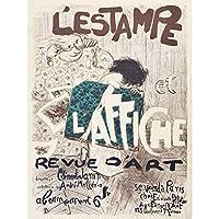 Bonnard Revue D'Art Publication 1897 Cover Large XL Wall Art Canvas Print パブリックカバー壁