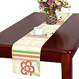 GGSXD テーブルランナー すばやい アヒル クロス 食卓カバー 麻綿製 欧米 おしゃれ 16 Inch X 72 Inch (40cm X 182cm) キッチン ダイニング ホーム デコレーション モダン リビング 洗える