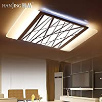 yposionモダンミニマリストSlimline LED天井ランプライトAtmosphere Personality長方形リビングルーム照明, 630* 400mmヘッドライト