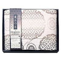 極選魔法の糸×オーガニック プレミアム五重織ガーゼ毛布 GMOW-15100 ベージュ