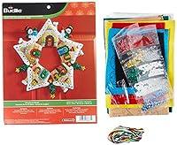 Bucilla Felt Applique Wreath Kit, 17-Inch Round, 86677 Gingerbread by Bucilla
