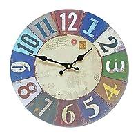 クロック 壁掛け時計,壁時計 電子時計 ウォールデコレーション MDFデコレーション、 クリエイティブ に適し 大型ホームキッチン バー,35cmindiameter