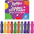 Lartique 10 Jumbo Dot Paint Kids & Preschool Toddlers - Washable Dab Bingo Stamp Markers for Creative & Educational Activity