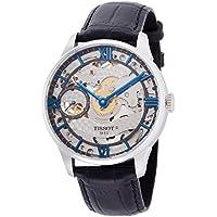 [ティソ] TISSOT 腕時計 シュマン・デ・トゥレル スケレッテ ブラックレザー T0994051641800 メンズ 【正規輸入品】