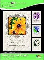 平和のポートレート - お悔やみグリーティングカード - NIV聖書- (12枚入り)