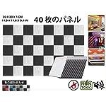 エースパンチ 40ピース 吸音材 防音 吸音材質ポリウレタン 白と黒 AP1093