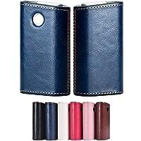SHI SHELL glo グロー ケース グロー カバー シンプル 革 メンズ レディース ユニセックス(ブルー)