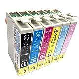 【Angelshop】IC50-6PK (BK/C/M/Y/LC/LM)洗浄6色セット EPSON(エプソン) 互換洗浄インクカートリッジ 残量表示機能付 ICチップあり
