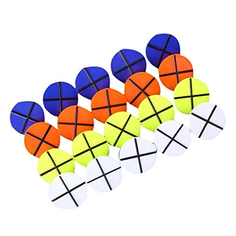 ラッチ有効化選択するプラスチック製 ゴルフボールマーカー ボールマーク ゴルフマーク ラウンド 約20枚入り