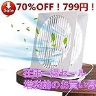 【秘密クーポン】ボックス型 卓上扇風機 799円!