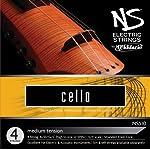 D'Addario NS Electric Cello String Set 4/4 Scale Medium Tension 【TEA】 [並行輸入品]
